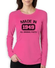 Made in 1949 Women Long Sleeve T-Shirt 65th Birthday Funny Gift Idea Present Top