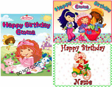 EDIBLE CAKE IMAGE STRAWBERRY SHORTCAKE  BIRTHDAY TOPPER