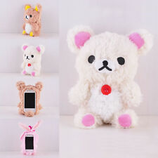 Fashion 3D Teddy Bear Cool Plush Toy Doll Cover Case For Apple Samsung Phones