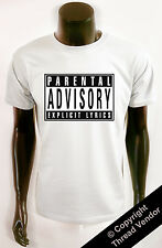 Explicit Lyrics Parental Advisory T SHIRT - Rap Hip Hop - 90's old school logo