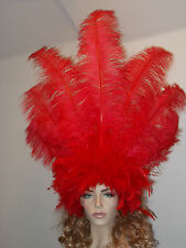 Big Samba Flapper Showgirl Burlesque Headdress Headpiece Halloween Hat Costume