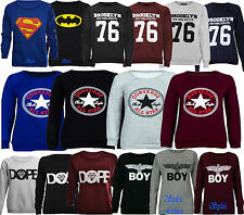 Ladies Women's Converse Superman Batman Brooklyn Logo Sweatshirt Sweater Jumper
