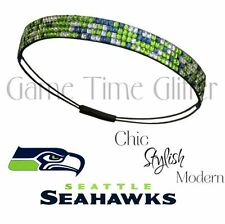 NWT Seattle Seahawks Team Color Womens Rhinestone Headband Wear w/ Your Jersey