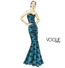 VOGUE Sew Pattern 8190 Ruched Mermaid Evening Bridal Dress Gown 8-18  OOP