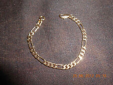 Babies Toddler Boy Girl 4 - 6 Inches Gold Plated Figaro Bracelet Anklet Chain