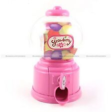 5 Colors Mini Gum Ball Candy Dispenser Bubble Gumball Machine Coin Bank Toy Kids
