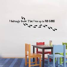 I SOLEMNLY SWEAR I AM UP TO NO GOOD Decal WALL STICKER Quote Harry Potter SQ82