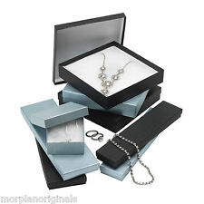 Pack Of 10,20,25 Black,Silver Gift/Jewellery Boxes With Cotton Padding
