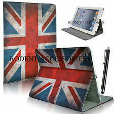 NEW CLASSIC RETRO UNION JACK LEATHER FLIP CASE COVER FOR VARIOUS TABLET MODELS