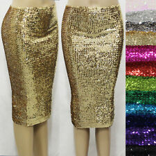 Sexy Dencer Clubwear Bling Full Sequins Bodycon Sheath Party Dress Pencil Skirt