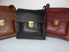 M&S LARGE LEATHER BAG.  BNWT RRP£75.00  CHOOSE FROM BLACKBERRY,TAN AND BLACK .