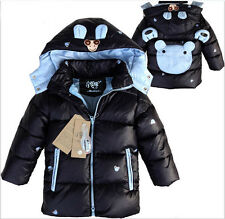 boys cartoon coat baby winter  warm jacket children cotton-padded clothes