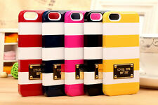 New For i Phone 5/5S Colored stripes Phone Cover Case in Retail Box 5 Color