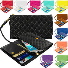 Luxury Wallet Flip Leather Design Case Cover Pouch Holder for Cell Phones