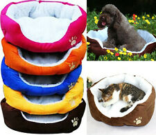 5 Colors Soft Fabric Washable Dog Cat Pet Warm Basket Bed With Fleece Lining