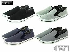 Mens Canvas Shoes Slip On Casual Colors Sneakers Kicks Originals Lowtop Footwear