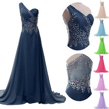 CHEAP STOCK Prom Ball Gown Long Wedding Evening Cocktail Formal Beaded Dresses