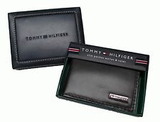 New Tommy Hilfiger Mens Leather Front Pocket Money Clip ID Wallet