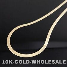 "NEW 10K YELLOW GOLD 20""- 22"" INCH 3MM HERRINGBONE NECKLACE MENS LADIES 04127"