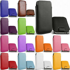 for samsung Galaxy Y Duos s6102 Leather bag case Pouch Phone Bags Cases