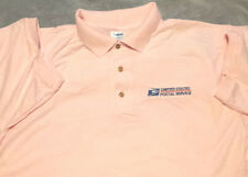 USPS POSTAL PINK POLO SHIRT WITH EMBROIDERED POSTAL LOGO ON CREST -  S - 3X