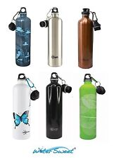 Cheeki 1000 ml Stainless Steel Water Bottle Loop & Sports Cap Choice of Designs