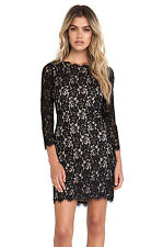 Gorgeous 2014 NWT $325 DVF Colleen Two-Toned Lace Dress, Multi-size, Authentic!