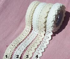 Fabric Lace Washi Tape Self Adhesive Stick On White Cream Cotton Trim Wedding
