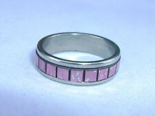 Super Sparkle Simulated Opal Mosiac Stainless Steel Band