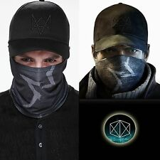 Fashion Aiden Pearce Hat Watch Dogs Face MASK CAP Set Video Game Cosplay Costume