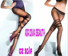 Women Ladies black Sexy Tattoo cross Party Sheer Stockings Pantyhose Tights