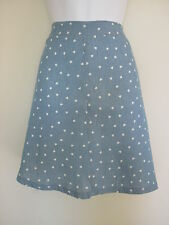 BNWT NEW LOOK INSPIRE BLUE WHITE HEART PRINT SKIRT PLUS SIZE 20 26 RRP £17.99