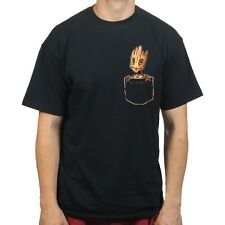 Groot in Pocket Guarding the Galaxy dvd T-shirt P965