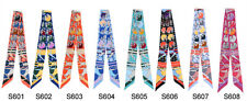 1pc EXCELLENT CONDITION MINI SCARF TWILLY BANDEAU WRAP RIBBON MULTICOLOR BOW TIE