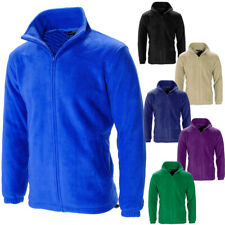 Anti Pill Full Zip Lined Polar Fleece Jacket  mens Size