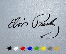 CAR STICKER PEGATINA DECAL VINYL Elvis Presley Signature