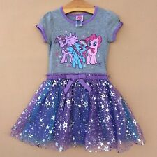 Girls My Little Pony Dresses Kid's Tutu Dress Short Sleeve Clothes Age2-6X