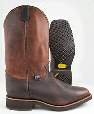"""Chippewa 12"""" Pull On BROWN LEATHER COWBOY WESTERN MADE IN USA EE Width 29320"""