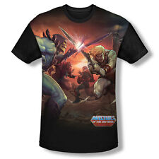 Masters Of The Universe Battle All Over Print With Black Back T-Shirt
