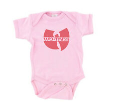 Wu-Tang Clan Symbol Baby T-Shirt Pink Girls One Piece Romper Creep...
