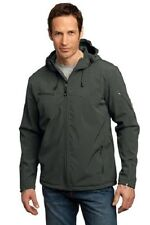 Port Authority Men's Textured Hooded Soft Shell Jacket #J706