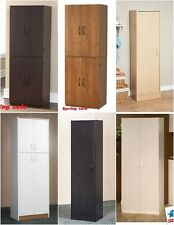 Kitchen Pantry Storage Tall Wood Utility Larder Cabinets Adjustable Shelves Room