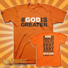 NEW KERUSSO #GODISGREATER Christian Adult T-Shirt hashtag God Is Greater