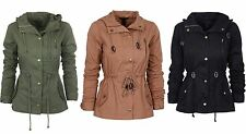 Womens Lightweight Cotton Fashion Safari Hoodie Jacket with Pockets Colors