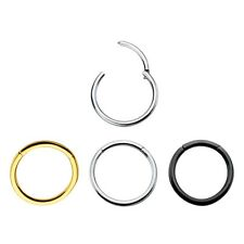Hinged Segment Ring 16G & 14G cartilage, Nose lips and nipple septum ring