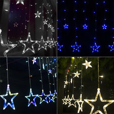 2.5M 168 LED Romantic Stars Curtain String Fairy Light for Party Wedding Xmas