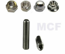TRIUMPH SCRAMBLER  EXHAUST STUDS, NUTS, WASHERS A2 STAINLESS STEEL