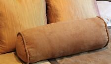 Blazing Needles Microsuede Bolster Pillows Set of 2