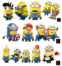 Minions Movie  auto For Despicable Me Stickers Vinyl Decals Decor Art Kids body