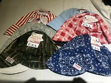 NWT 1 USA Made Welding Cap Welders Hat Comeaux Caps Reversible 2000 Sized cotton